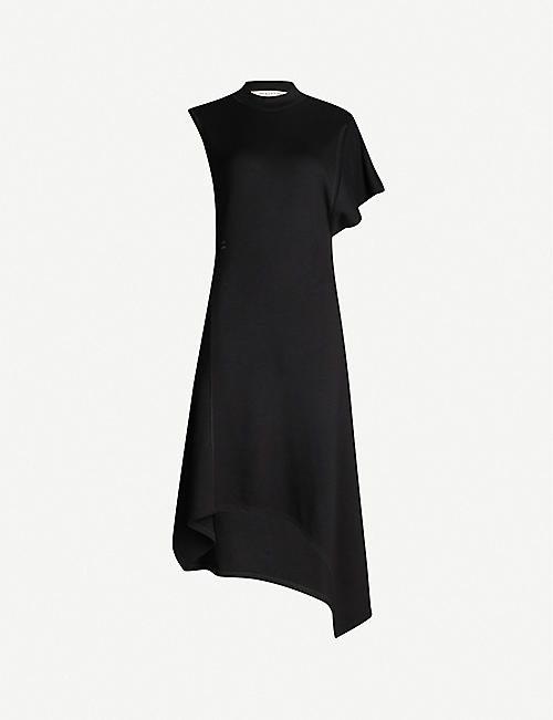 ALYX Asymmetric-hem one-sleeve stretch-jersey midi dress