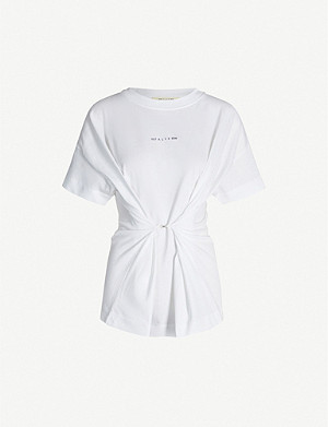 1017 ALYX 9SM Logo-print belted cotton-jersey T-shirt