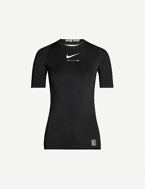 ALYX 1017 ALYX 9SM x Nike glitter long-sleeved stretch-jersey top