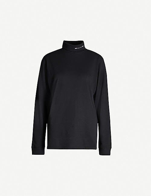 ALYX Roll-neck recycled cotton and recycled polyester-blend top