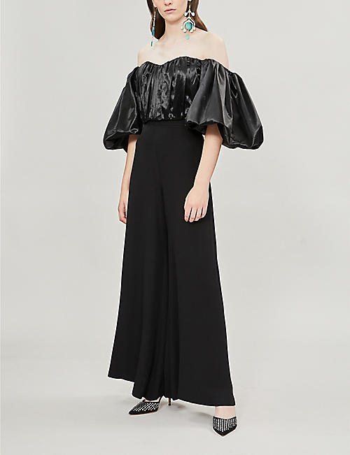 ELLERY Bachelorette off-the-shoulder satin top