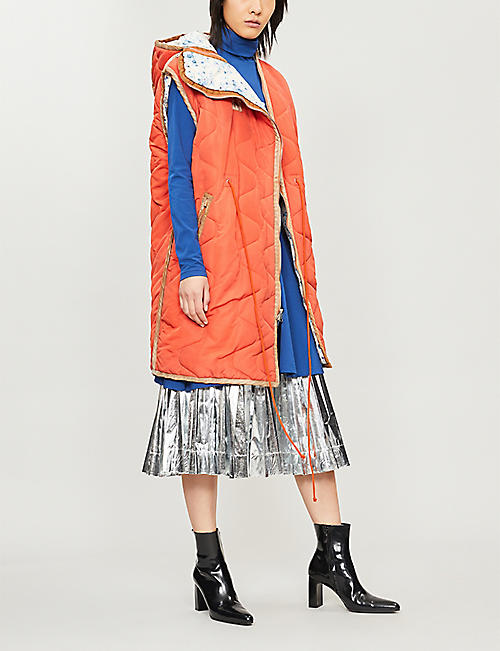 CALVIN KLEIN 205W39NYC Sleeveless shell parka coat