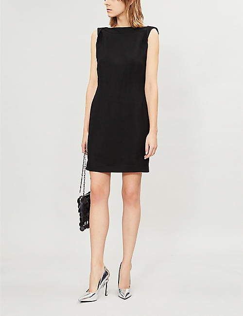 CALVIN KLEIN 205W39NYC Scoop-back crepe mini dress
