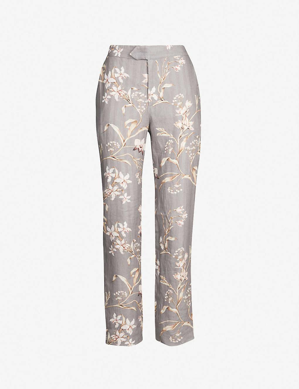 a61c345e7647b JOHANNA ORTIZ - Floral-print linen trousers | Selfridges.com