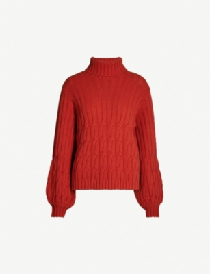 JOHANNA ORTIZ Cuentos del Caribe wool and cashmere-blend turtleneck jumper