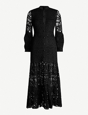 ALEXIS Eudora cotton-lace maxi dress