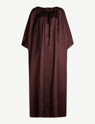 THE ROW Libby oversized ruched satin dress