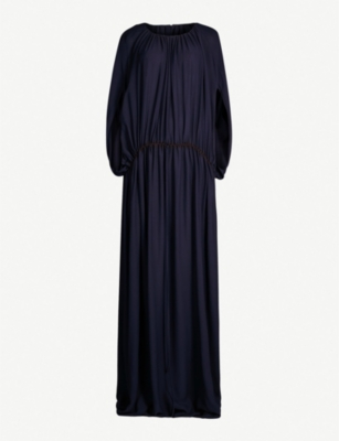THE ROW Regina drawstring-waist silk-georgette maxi dress