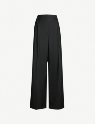 THE ROW High-rise pleated detail wide-leg wool trousers