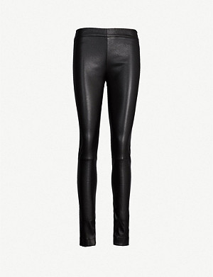THE ROW Moto high-rise leather skinny trousers
