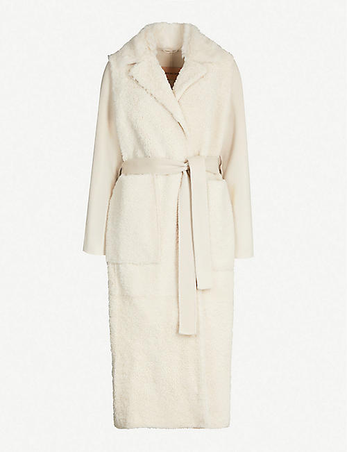 YVES SALOMON Merinillo shearling and cashmere-blend coat