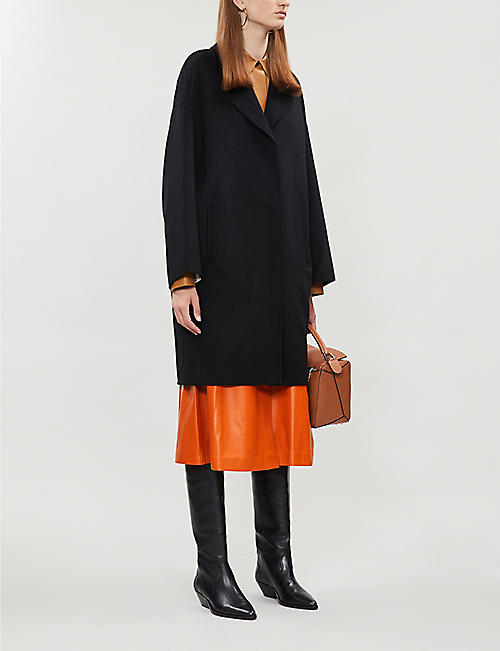 YVES SALOMON Dropped-shoulders notch-lapel cashmere coat