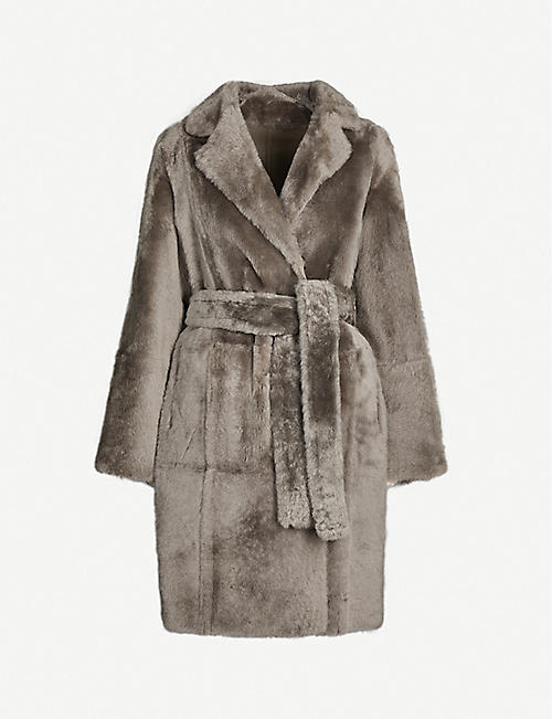 YVES SALOMON Lacon reversible leather and shearling coat