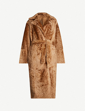 YVES SALOMON Lacon belted shearling coat