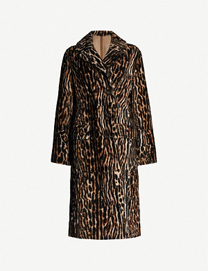 YVES SALOMON Lacon animal-print shearling coat