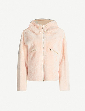 YVES SALOMON Drawstring-hood shearling jacket