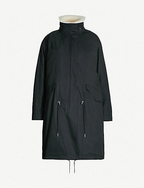YVES SALOMON Cotton-blend and shearling parka coat 0cfd1b926765