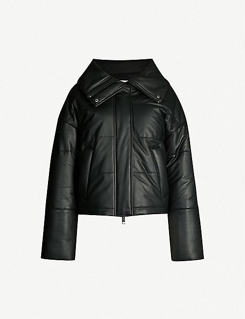 2c3455df34b YVES SALOMON Leather puffer jacket