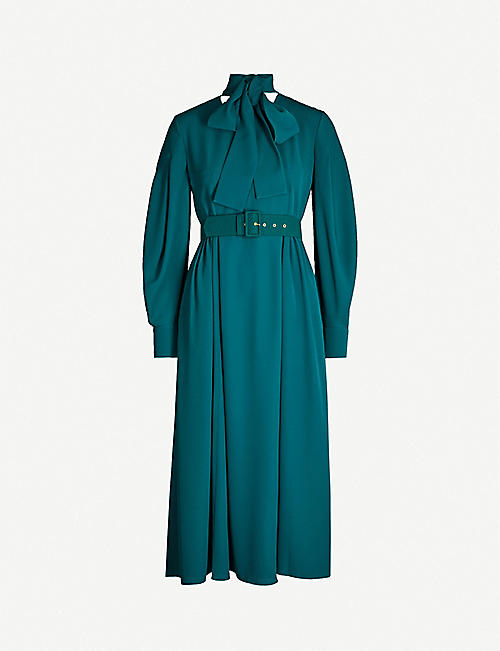 EMILIA WICKSTEAD Farnia stretch-crepe midi dress