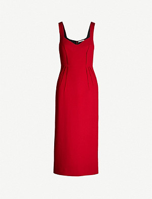 EMILIA WICKSTEAD Juditella V-neck wool midi dress