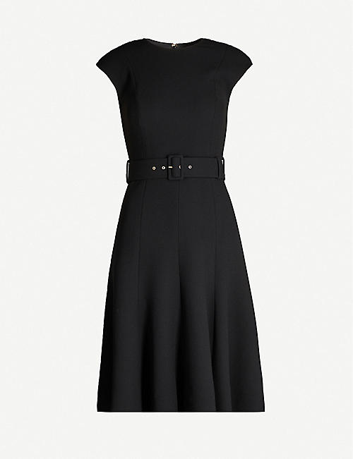 EMILIA WICKSTEAD Danni belted wool dress