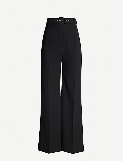 EMILIA WICKSTEAD Jana flared crepe trousers