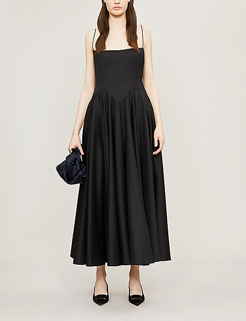 e37461ce EMILIA WICKSTEAD Emilia Wickstead x Woolmark Nico fit-and-flare wool dress