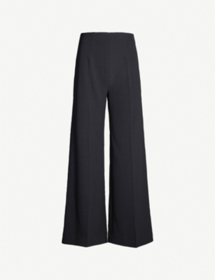 EMILIA WICKSTEAD Hulline wide-leg cropped stretch-crepe trousers