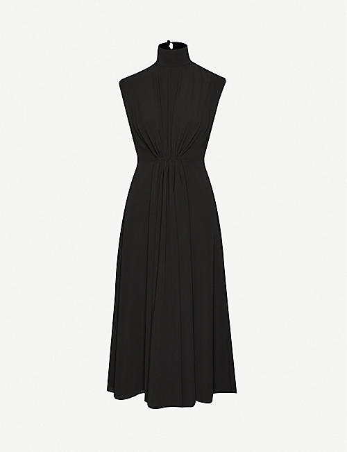 EMILIA WICKSTEAD Valencia high-neck stretch-crepe midi dress