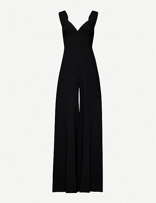 EMILIA WICKSTEAD: Rosabel wide-leg crepe jumpsuit