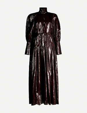 ELLERY Bubbles high-neck crepe midi dress
