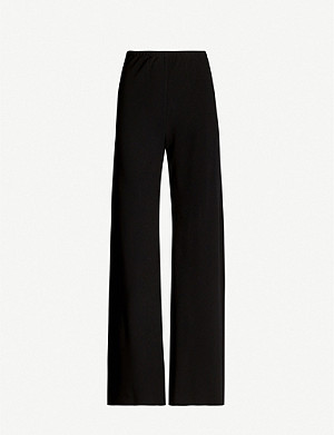 THE ROW Gala high-rise stretch-crepe flared trousers