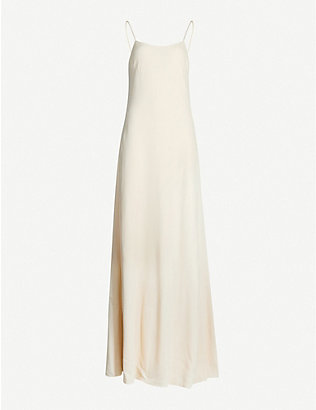THE ROW: Ebbins scoop-neck crepe maxi dress