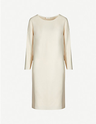 THE ROW: Larina boat-neck crepe midi dress