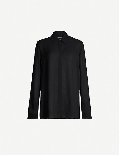 THE ROW Carla relaxed-fit crepe shirt