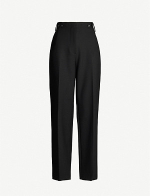 THE ROW Matea high-rise stretch-wool trousers