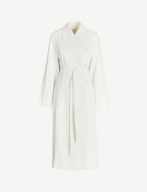 THE ROW Efo linen-blend wrap coat