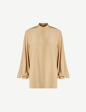 THE ROW Vara balloon-sleeve silk shirt