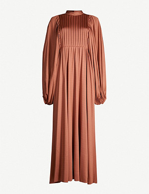 THE ROW Doan pleated-top crepe dress