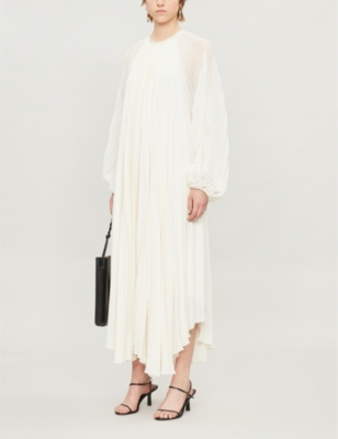 Martina Semi Sheer Panel Crepe Dress by The Row