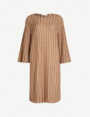 THE ROW Luana striped cashmere and silk-blend top