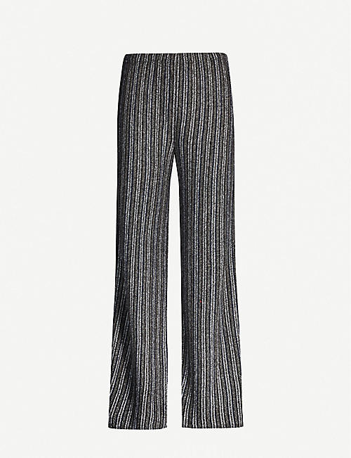 THE ROW Nana striped cashmere and silk-blend trousers