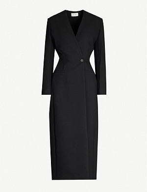 THE ROW Nadine double-breasted stretch-woven coat