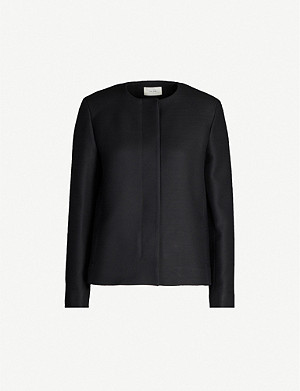 THE ROW Raban round-neck wool and silk-blend jacket
