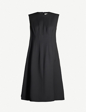 THE ROW Isandra sleeveless wool-blend midi dress