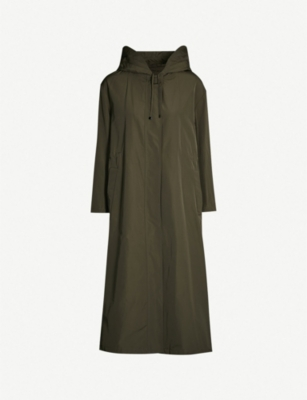 MAX MARA CUBE Oversized shell hooded parka
