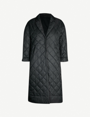 MAX MARA CUBE Enoveco notch-lapel quilted shell coat