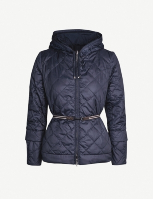 MAX MARA CUBE Reversible quilted shell hooded jacket