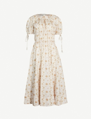 BROCK COLLECTION Orsolina floral-print cotton midi dress