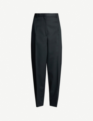JIL SANDER Gianluca carrot-fit wool trousers